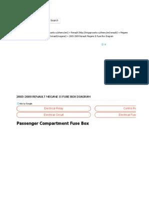 2003-2009 Renault Megane II Fuse Box Diagram » Fuse Diagram ... on