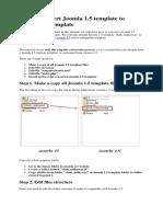 How to Convert Joomla 1