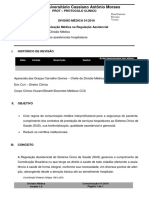 Protocolo Comunicacao Medica Regulatoria SUS