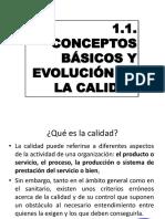 1.- Conceptos Básicos y Evolución de La Calidad