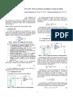 Estudo de amplificadores em sistemas de medição e tensão de offset