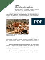 Sinopse da Indústria Cerâmica em Goiás, BR - Henrique Mendonça
