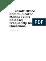 Communicator Mobile FAQ
