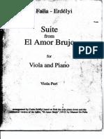 FALLA - Suite From 'El Amor Brujo' (Viola Part)