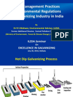 Best Management Practices & Environmental Regulations for Galvanizing Industry in India