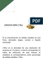 GRADOS BRIX (°Bx)