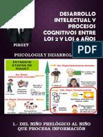 Desarrollo Intelectual y Procesos Cognitivos Entre Los 2 Añosss
