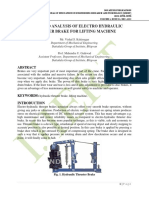 DESIGN AND ANALYSIS OF ELECTRO HYDRAULIC THRUSTER BRAKE FOR LIFTING MACHINE