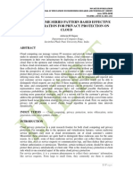 ENHANCED TIME SERIES PATTERN BASED EFFECTIVE NOISE GENERATION FOR PRIVACY PROTECTION ON CLOUD