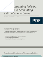 PAS 8 Accounting Policies, Changes in Accounting
