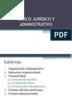 Marco Jurídico y Administrativo