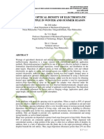 ANALYSIS OF OPTICAL DENSITY OF ELECTROSTATIC SPRAY ON APPLE IN WINTER AND SUMMER SEASON