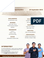 Career Poster - 20 September 2018
