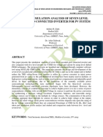 DESIGN AND SIMULATION ANALYSIS OF SEVEN LEVEL CASCADED GRID CONNECTED INVERTER FOR PV SYSTEM