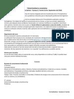 Programa Termodinámica Avanzada 2018