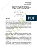 OPTIMIZATION OF CUTTING PARAMETERS FOR CUTTING FORCE IN TURNING OF AISI 904L STAINLESS STEEL MATERIAL USING TAGUCHI METHOD