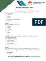 Download Soal CPNS Dan Kunci Jawaban