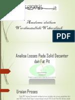 Analisa Losses Pada Solid Decanter Dan Fat Pit
