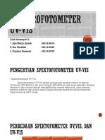 Ppt Spektofotometer Uv-Vis