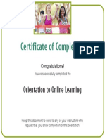 OOL Completion Certificate