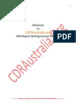 Sample CDR for Mechanical Engineer PDF