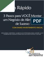 PDF Os 3 Passos Para Voce Montar Um Negocio de Alimentacao