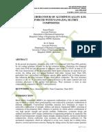 SLIDING WEAR BEHAVIOUR OF ALUMINUM ALLOY (LM-13) REINFORCED WITH NANO-ZrO2 MATRIX COMPOSITES