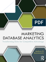 MARKETING DATABASE ANALYTICS Transforming Data for Competitive Advantage - Andrew D. Banasiewicz