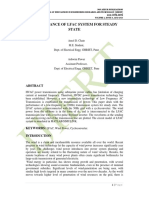 PERFORMANCE OF LFAC SYSTEM FOR STEADY STATE