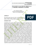 EFFECT OF PARTICLE SIZE IN ANALYSIS OF CREEP IN AN ISOTROPIC UNIFORM COMPOSITE CYLINDER