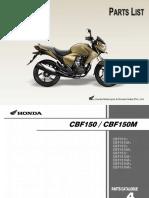 CB Unicorn Dazzler Spare Parts Catalog