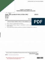 Lpkpm_SPM Exam Physics 2012 Paper 1 Question & Answer_SPM Soalan & Jawapan Fizik Kertas 1 2012
