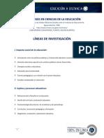 Doctorado Lineas de Investigacion
