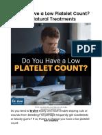 Low Platelet