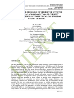 THE ADVANCED DESIGNING OF LED DRIVER WITH THE DIFFUSIONAL ACCOMMODATION OF CURRENT SENSING TECHNOLOGY WITH OPEN LOOP PWM FOR STREET LIGHTING