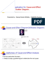 Ishikawa diagram and scatter digram