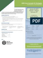 LEED Workshop Flyer - Syracuse, NY 1.23.10