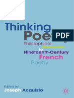 Acquisto - Thinking Poetry Philosophical Approaches to Nineteenth-Century French Poetry