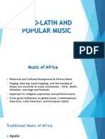 Afro Latin and popularmusic