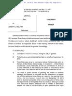 Joe Melton Order on Motion to Extend 21