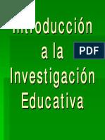 Introducción a La Investigación Educativa_Presentación