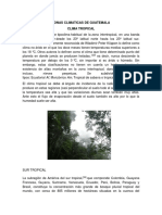 Zonas Climaticas de Guatemala