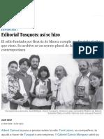 Editorial Tusquets_ Así Se Hizo _ Babelia