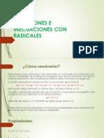 Ecuaciones e Inecuaciones Con Radicales