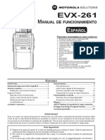 Manual Motorola EVX-261