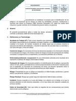 P_SST_12 Identificación de Peligros, Evaluación y Control de Riesgos-V01