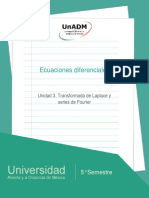 Unidad 3. Transformada de Laplace y Series de Fourier