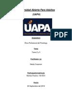 Tarea 2 y 3(Etica Profesional Del Psicologo)