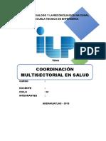 Coordinación Sectorial y Multisectorial