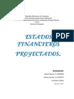 INFORME MODULO IV Estados Financieros Proyectados